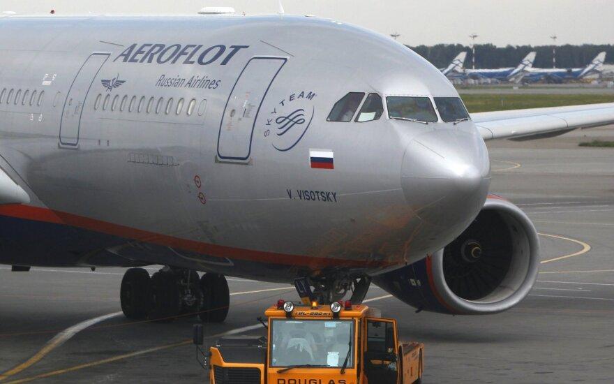 """Oro linijų bendrovės """"Aeroflot"""" lėktuvas"""