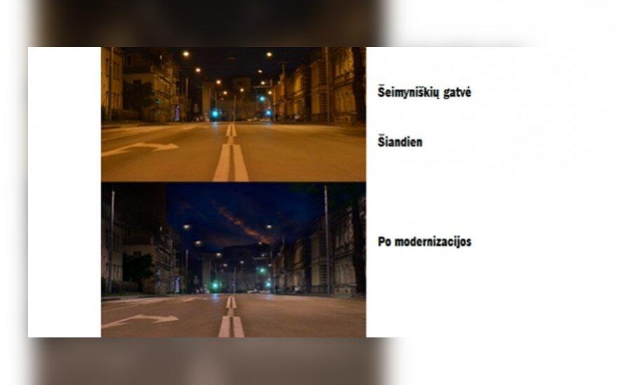 Taip atrodys Šeimyniškių gatvė po modernizacijos