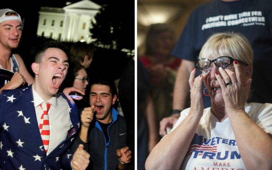 Слезы, разочарование и восторг: как американцы реагируют на победу Трампа