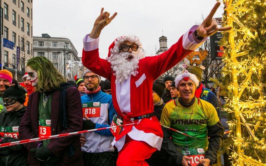 В Вильнюсе - рождественский забег