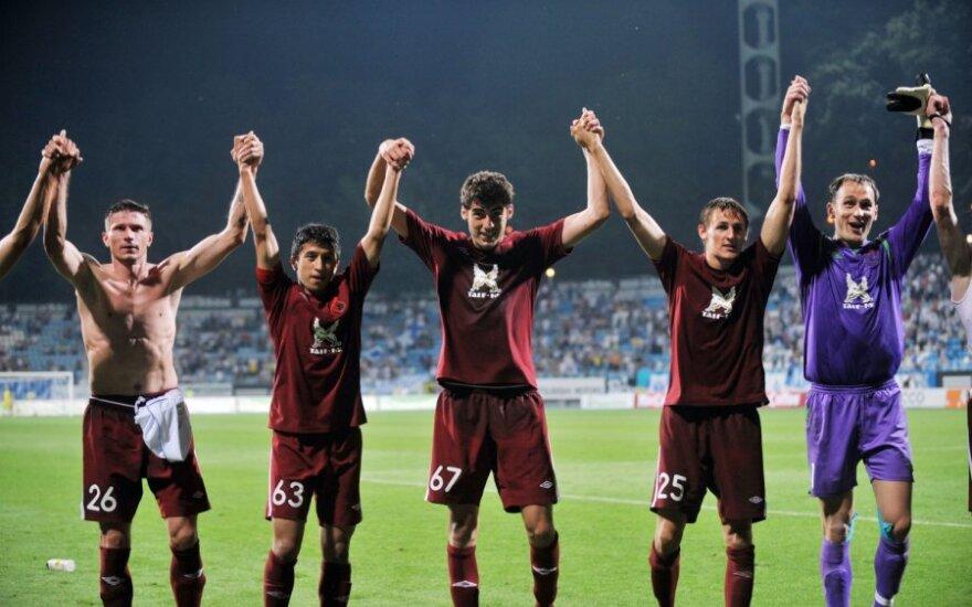"""Rubin"" futbolininkai džiaugiasi pergale"
