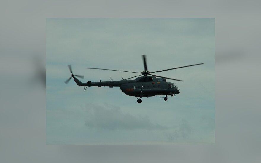 Сердце из Паневежиса в Вильнюс доставил военный вертолет
