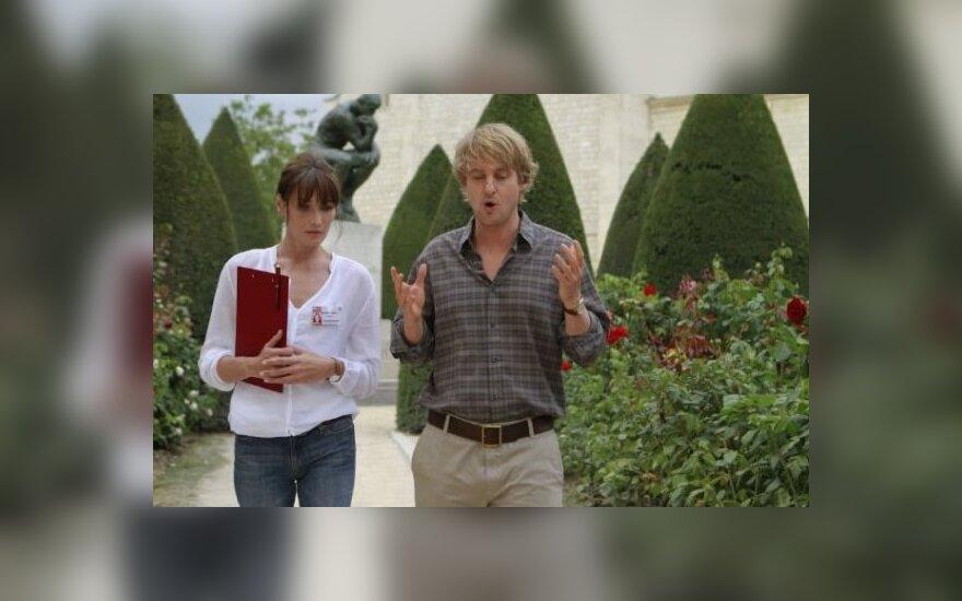 Owenas Wilsonas ir Carla Bruni-Sarkozy