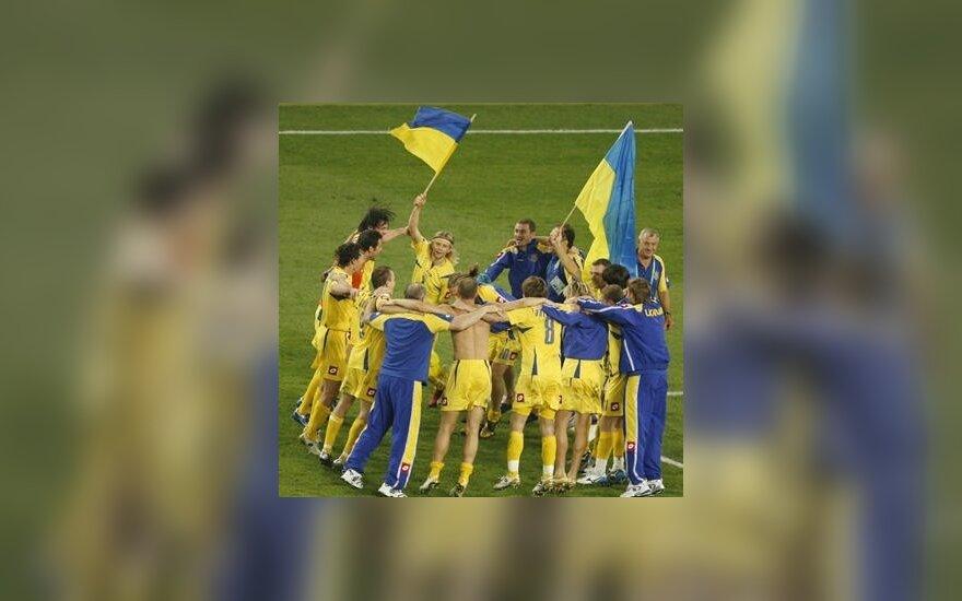 Ukrainos futbolininkai pateko į pasaulio čempionato ketvirtfinalį