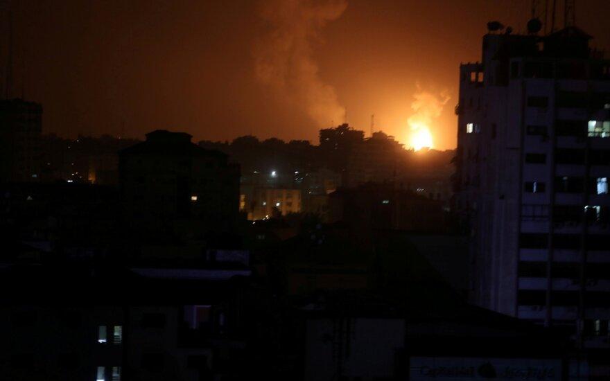 Izraelis smogė taikiniams Gazos Ruože