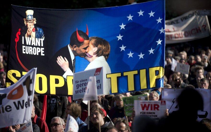 Protestas prieš TTIP Berlyne.