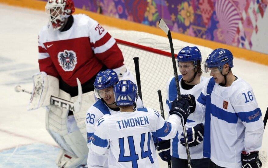 Финны и австрийцы забросили 12 шайб в матче Олимпиады - 8:4