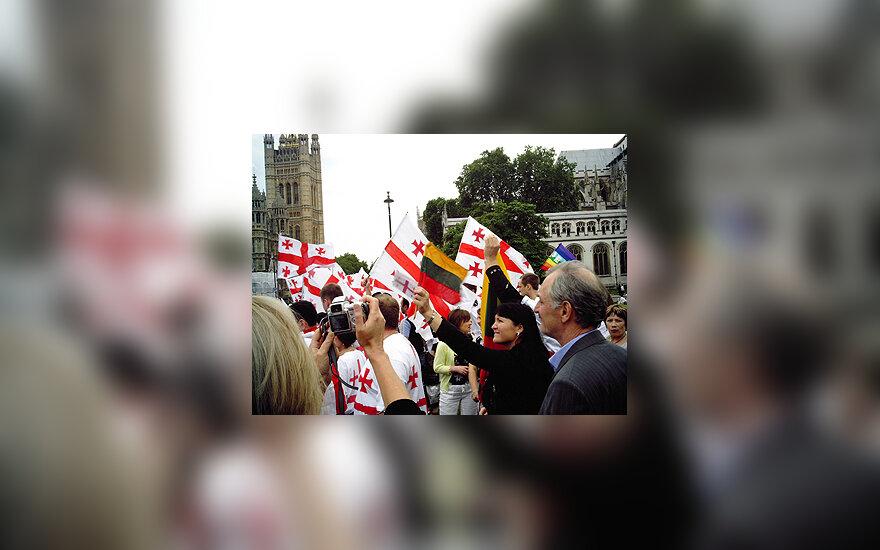 Gruzijos palaikymo akcija Londone