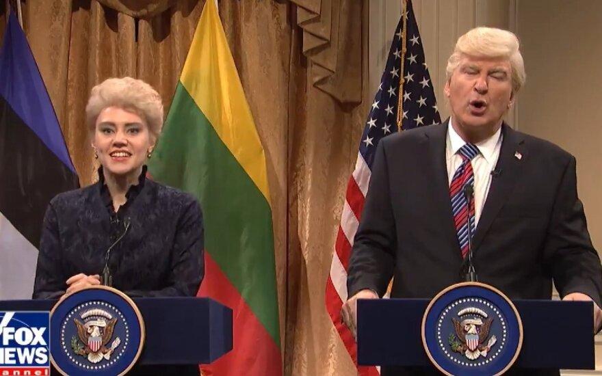 В культовой американской передаче – пародия на диалог Грибаускайте с Трампом