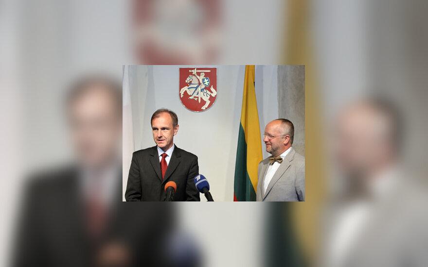 Bogdanas Klichas (kairėje) ir Juozas Olekas
