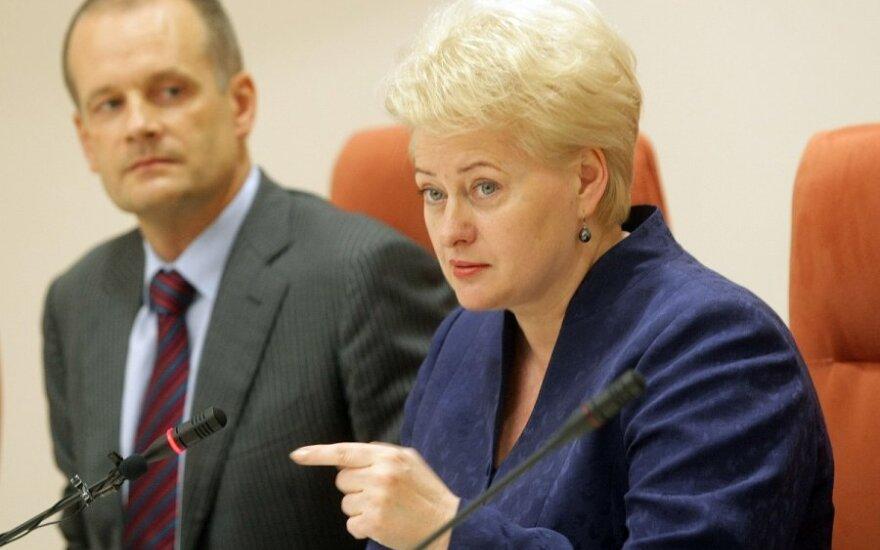 Giedrius Viliūnas, Dalia Grybauskaitė