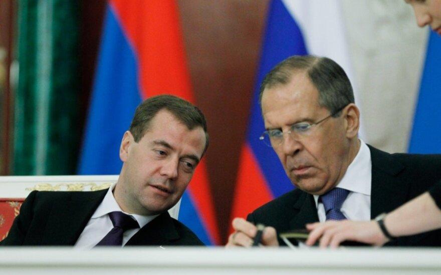 Sergejus Lavrovas ir Dmitrijus Medvedevas