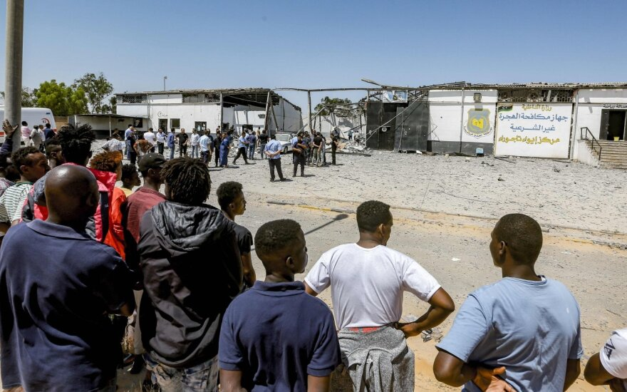 Migrantai Libijoje