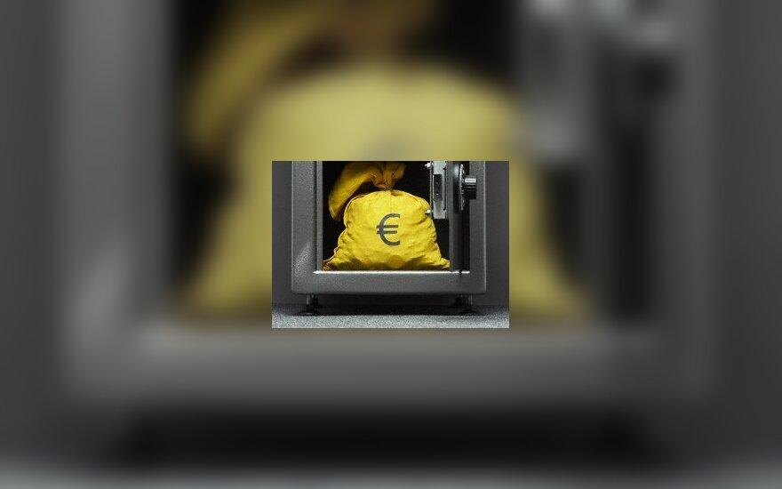 Pinigai, seifas, eurai