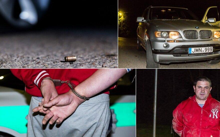 Ночью в Вильнюсе полиция стреляла по автомобилю BMW