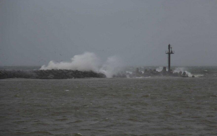 Pajūryje siaučia stiprus vėjas