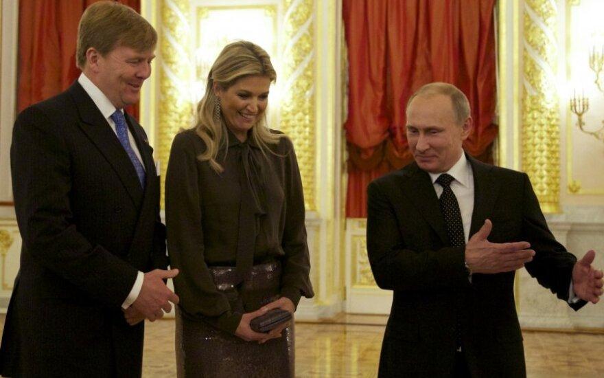 Belgijos karalius Willemas Alexanderis ir karalienė Maxima apsilankė pas Rusijos prezidentą Vladimirą Putiną