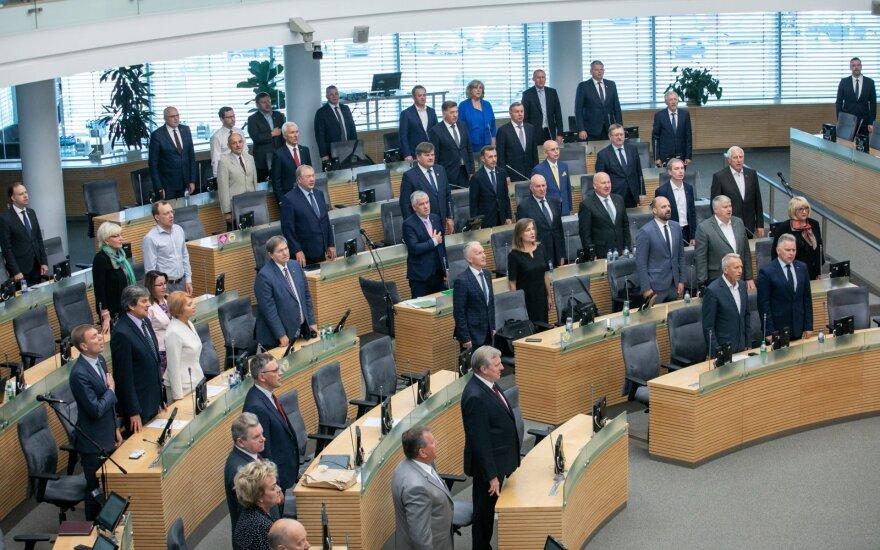 Голосовать по спикеру будут на внеочередном заседании Сейма Литвы во вторник