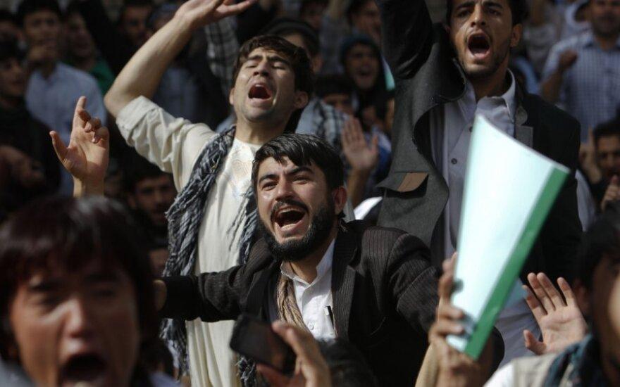 Afganistano sostinėje kilo antiamerikietiški protestai