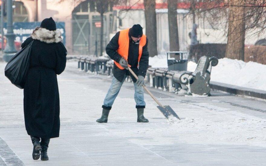 Вильнюсские дворники угрожают забастовкой
