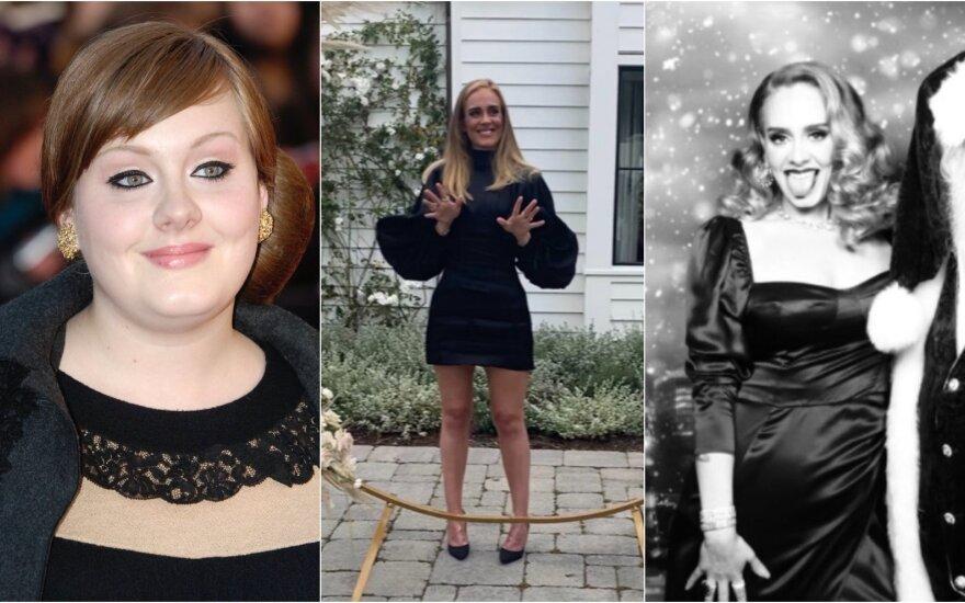 Dainininkė Adele anksčiau ir dabar /Foto: Instagram, Vidapress