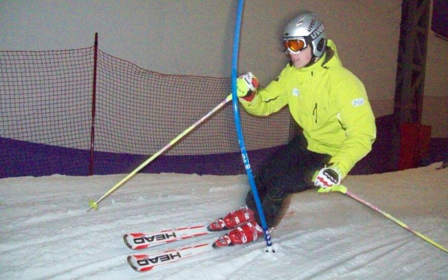 Kalnų slidinėjimas Druskininkų arenoje (V.Aleksandravičius nuotr.)