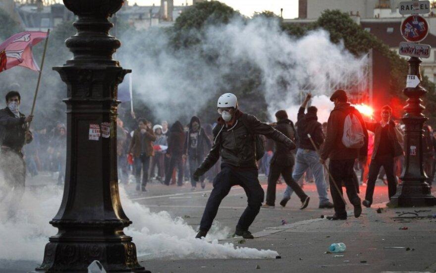 Protesto akcija Paryžiuje