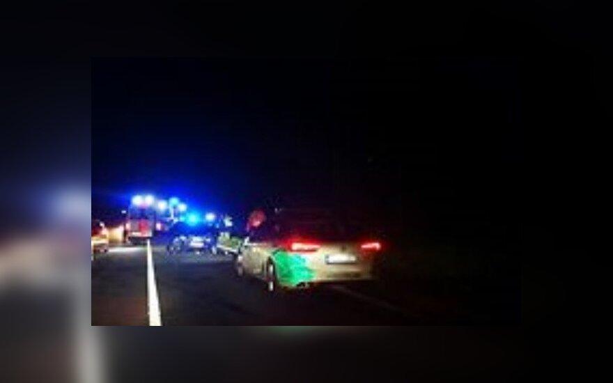 В Вильнюсском районе произошло лобовое столкновение автомобилей