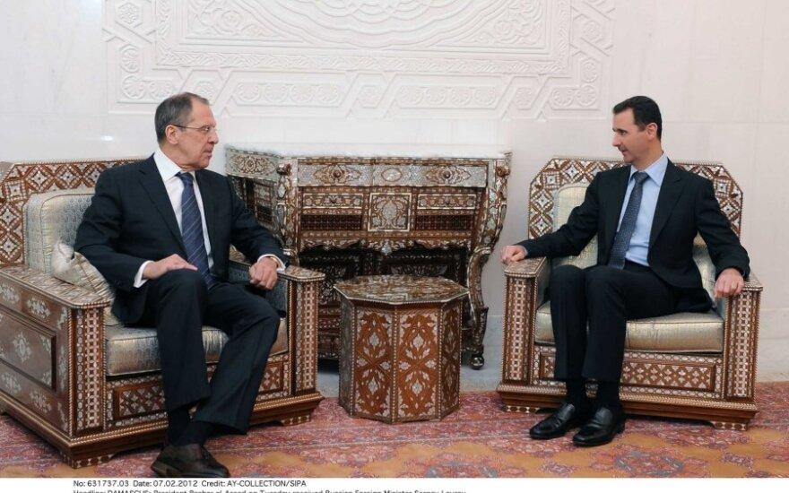 Sergejaus Lavrovo ir  Basharo al Assado susitikimas