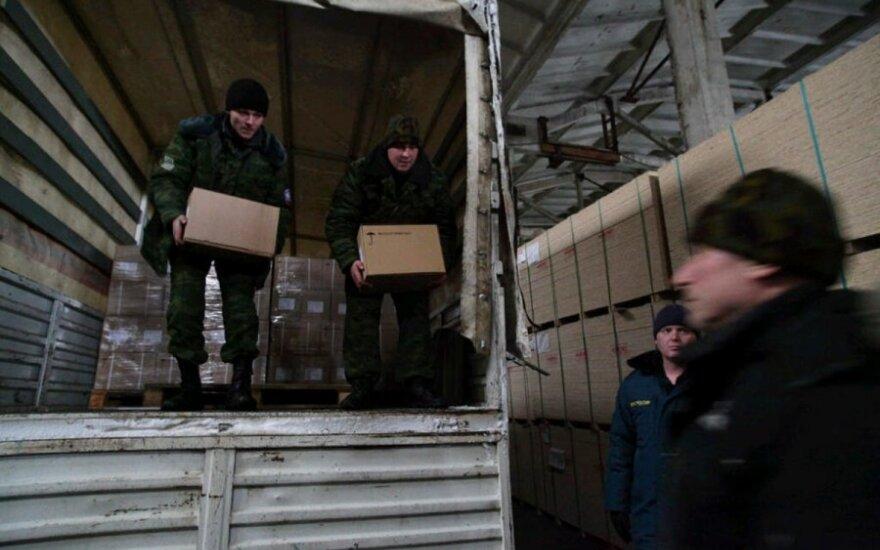 """Į Donecką atvyko Rusijos """"humanitarinės pagalbos"""" konvojus"""