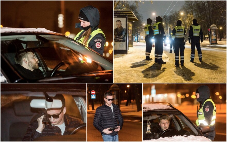 Ночной рейд в Вильнюсе: водители BMW и Audi предпочитали быть без прав