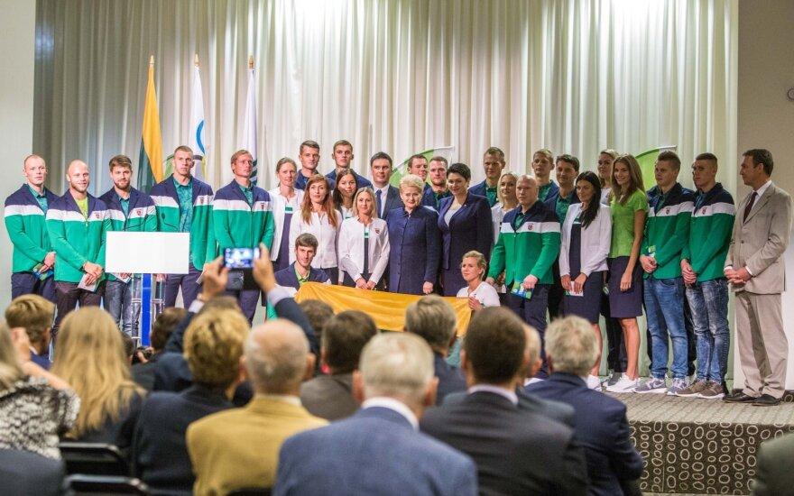 Во время проводов спортсменов Литвы на олимпиаду была объявлена минута молчания