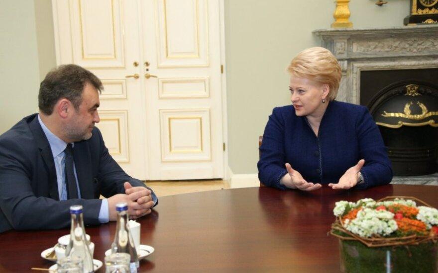 Dalia Grybauskaitė priėmė EŽTT teisėją Egidijų Kūrį