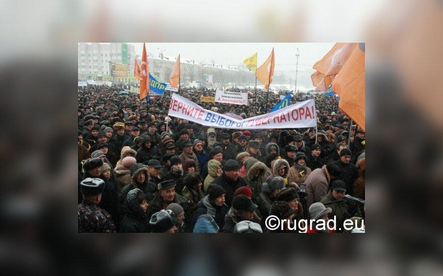 Лидера калининградских единороссов могут наказать за митинг