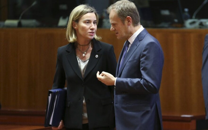 Federica Mogherini, Donaldas Tuskas