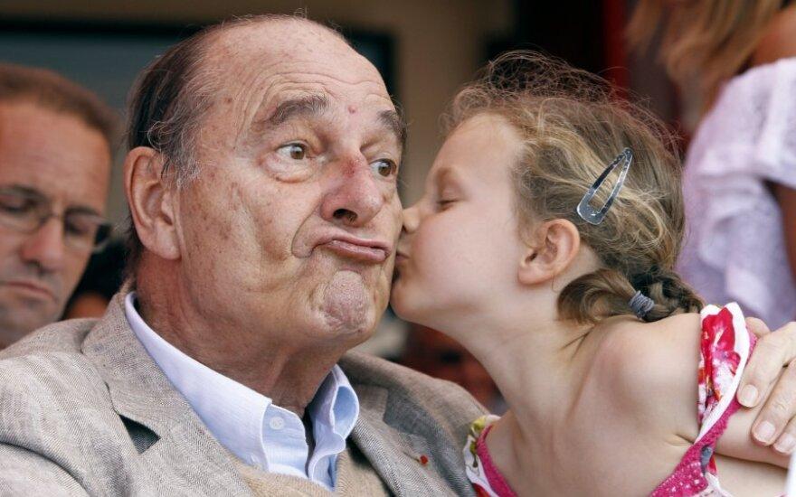 Жак Ширак и юная леди