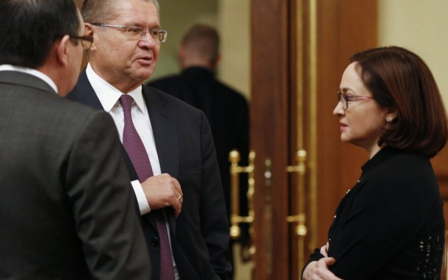 Dmitrijus Medvedevas, Elvira Nabiulina,  Aleksejus Uliukajevas