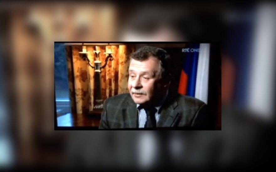 """Фраза посла """"ирландские украинцы не русские"""" на ТВ заела на 10 минут"""