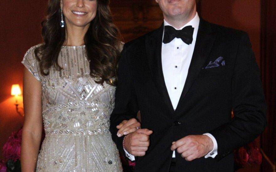 Švedijos princesė Madeleine su Christopheriu O'Neillu