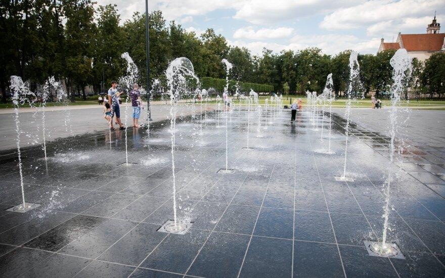 В Вильнюсе начинается новый сезон фонтанов