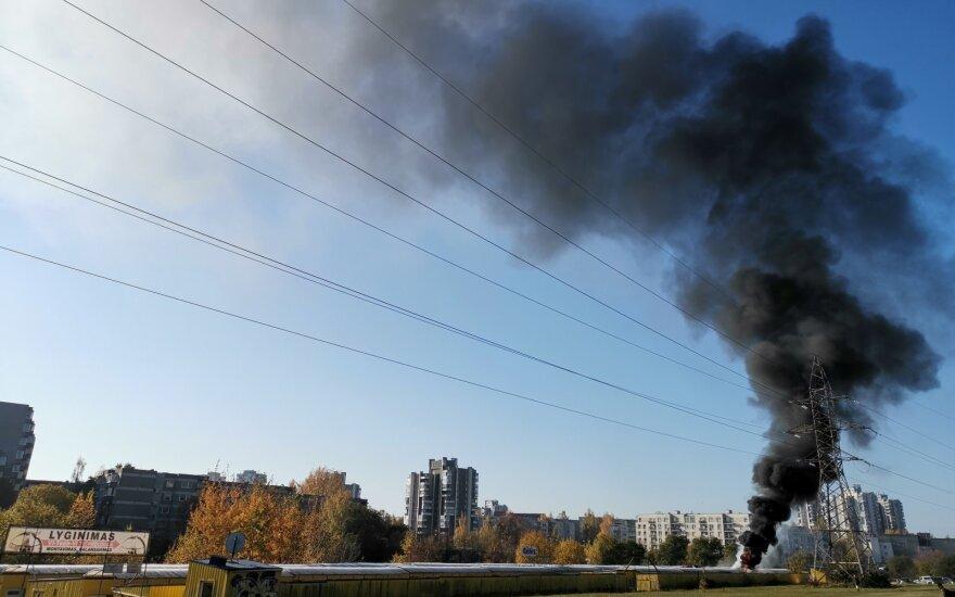 В Вильнюсе горели торговые ряды. Пожар потушен