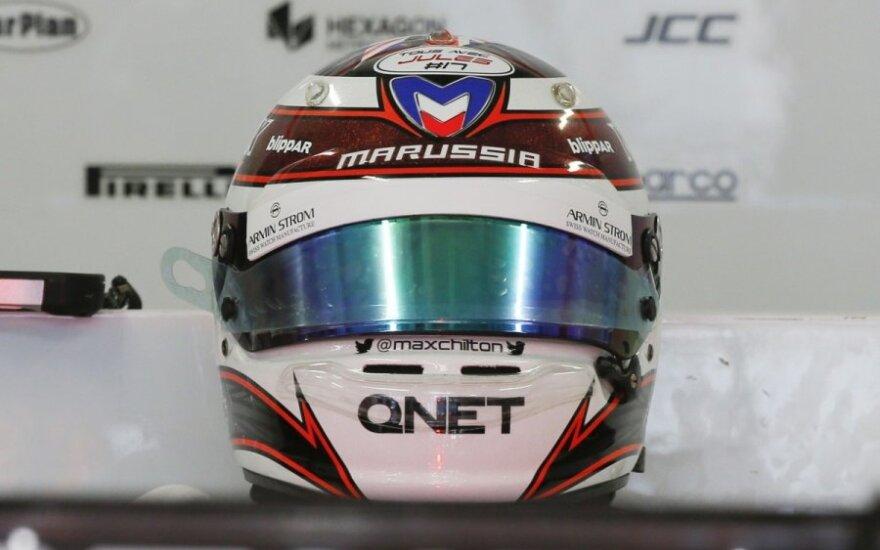 """""""Marussia"""" komandos piloto šalmas"""