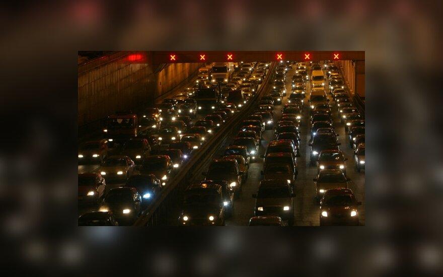 Ночью в Москве столкнулись сразу 11 автомашин