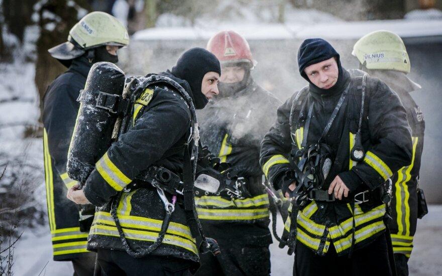 В сгоревшем доме в Вильнюсе обнаружен труп человека