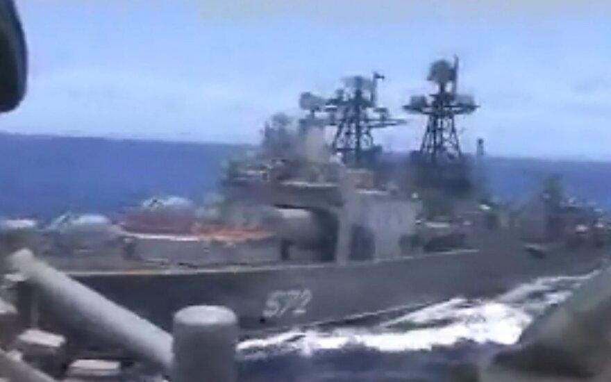 ВИДЕО: корабли США и РФ опасно сблизились в Филиппинском море