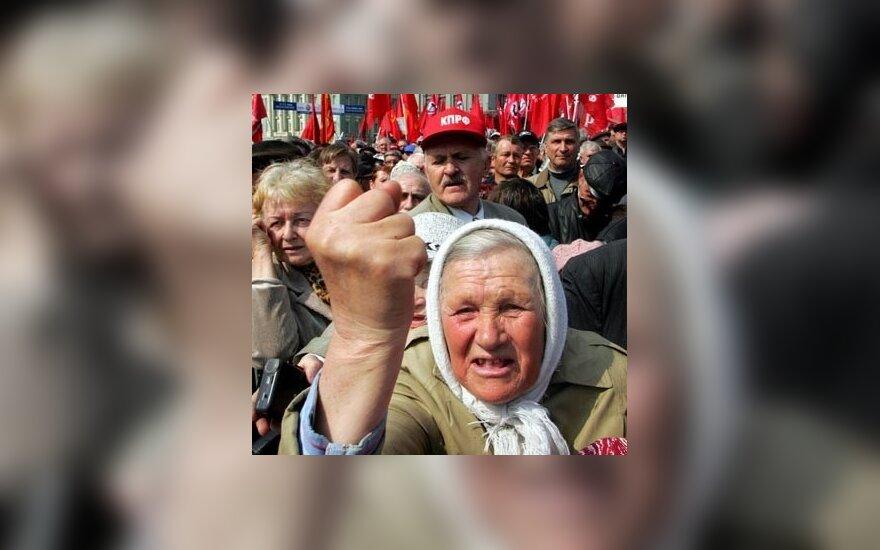 Darbo žmonių šventės minėjime prasiveržė Rusijos gyventojų emocijos