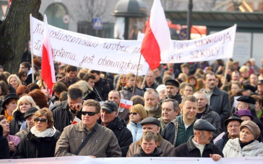 Kolejna akcja protestu Polaków na Litwie