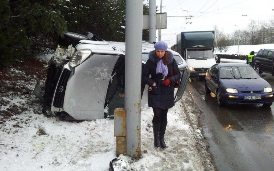 В Вильнюсе безответственный водитель совершил аварию и скрылся
