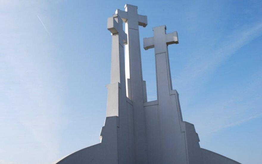 Три креста и вильнюсская Ратуша окрасятся в цвета украинского флага