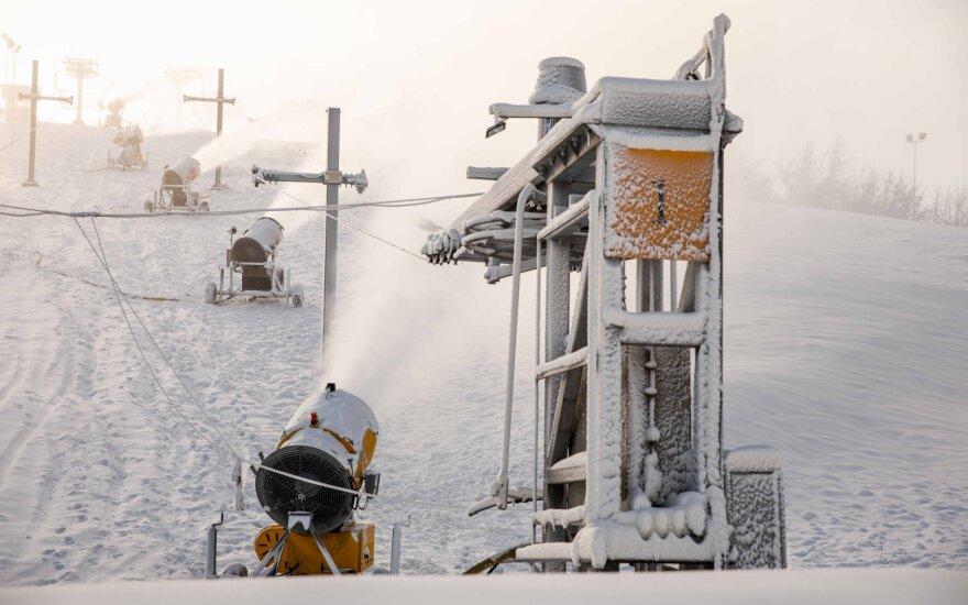 """В лыжном комплексе """"Лепкальнис"""" произошло столкновение лыжников, женщина в коме"""